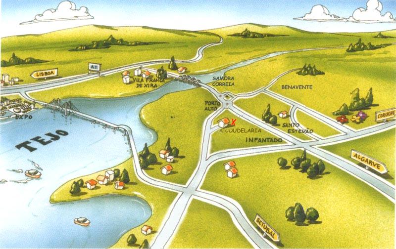 samora correia mapa A Coudelaria samora correia mapa